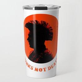 Punks not death Travel Mug