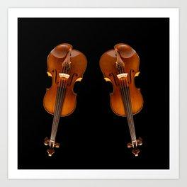 Stradivarius viloin twin Art Print