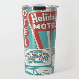 Vintage car and motel sign 50es style Travel Mug