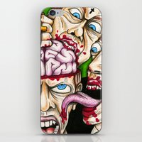 atheist iPhone & iPod Skins featuring Atheist Eaters II by Adam Bright