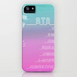 BTS Members in English & Korean iPhone Case
