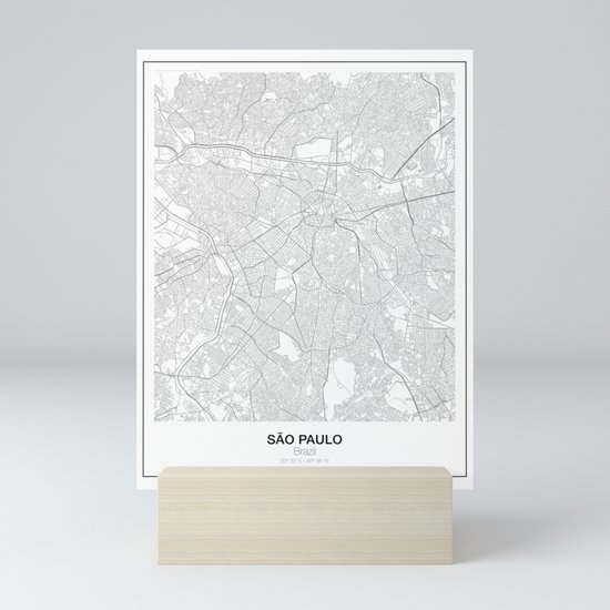 São Paulo, Brazil Minimalist Map by resfeber