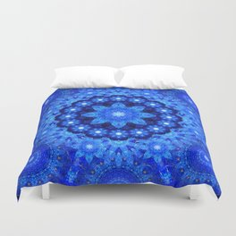 Lapis Crown Mandala Duvet Cover