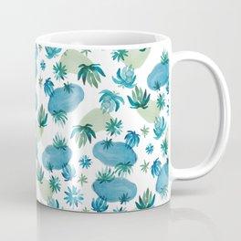 Tropical Flowers Pattern Coffee Mug