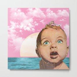Baby Blue Metal Print