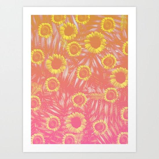 Sunflower Party #4 Art Print