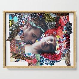 Klimt Kiss Collage Serving Tray