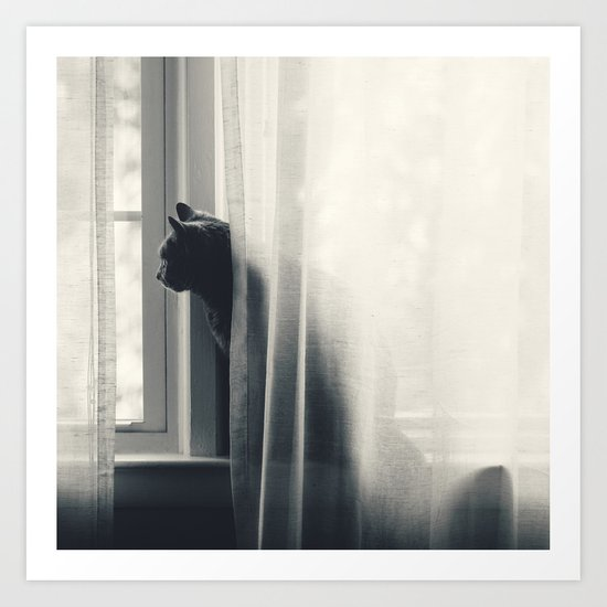 Le Kitty  Art Print