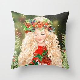 Little Merry Throw Pillow