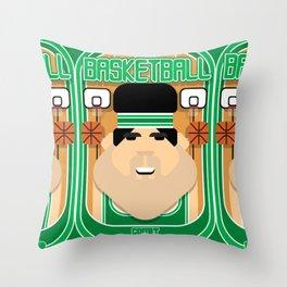 Basketball Green - Court Dunkdribbler - Victor version Throw Pillow