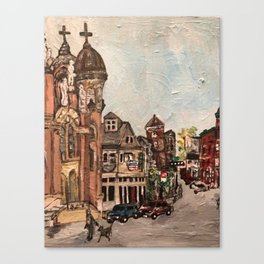 """""""Little Italy, Cleveland""""  Ohio Painting Canvas Print"""