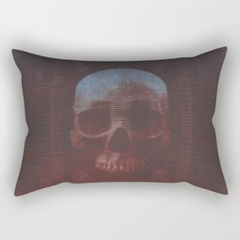 Protosequence Crimson Rectangular Pillow