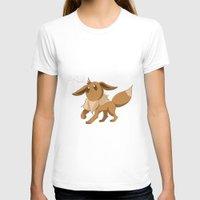 eevee T-shirts featuring Pkmn #133: Eevee by Michelle Rakar