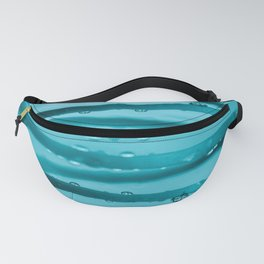 Drops in Spiral Fresh Turquoise Color #decor #society6 #buyart Fanny Pack