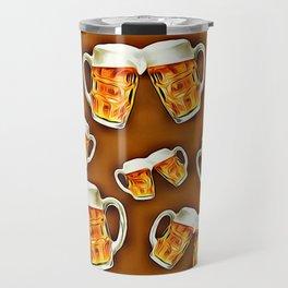 Beers forever-Brown Travel Mug