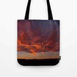 Desert Sky on Fire Tote Bag