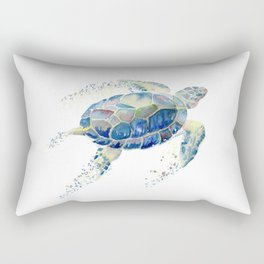 Lone Sea Turtle Watercolor  Rectangular Pillow