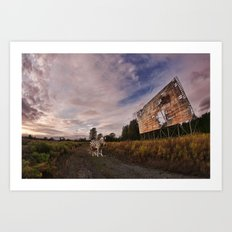 At the drive in. Art Print