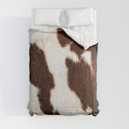 Cowhide Brown Spots Comforters