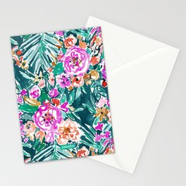TROPICAL FEELS Begonia Palm Watercolor Pattern Stationery Cards