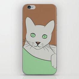 Russin Blue Cat Portrait iPhone Skin