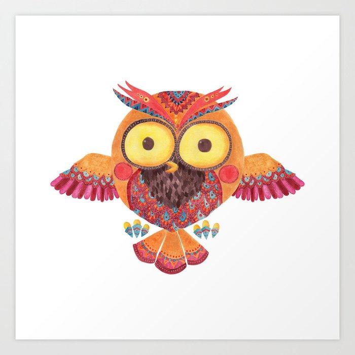 The Outstanding Owl Art Print
