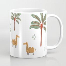 Camel with palm trees and cactus Coffee Mug