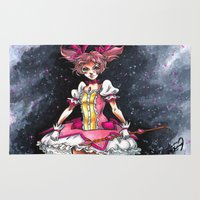 madoka magica Area & Throw Rugs featuring Madoka Magica by Refrigerator-Art