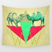 camel Wall Tapestries featuring Camel Kiss by AmDuf