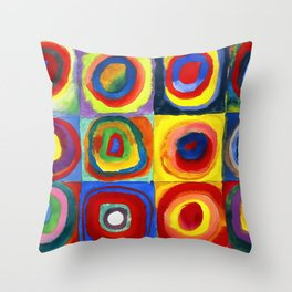 Kandinsky, Farbstudie - Quadrate und konzentrische Ringe, Color Study. Squares with Concentric Circles 1913 Throw Pillow