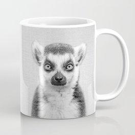 Lemur 2 - Black & White Coffee Mug