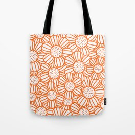 Field of daisies - orange Tote Bag