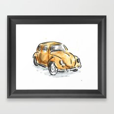 The Classic Beetle Framed Art Print