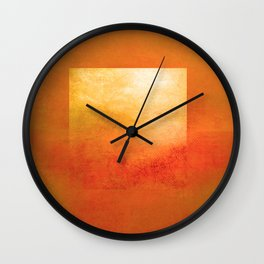 Square Composition III Wall Clock