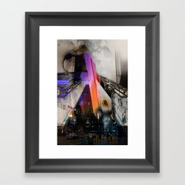 Meet me in my smooth city Framed Art Print