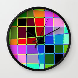 Color Blocks 3 Wall Clock