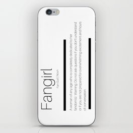 Fangirl Defined iPhone Skin