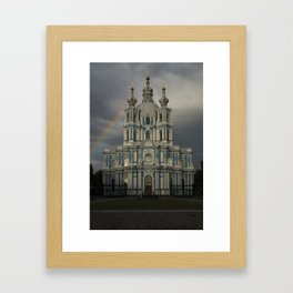 Postcards from Petersburg - Smolny Cathedal Framed Art Print