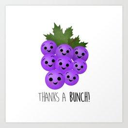 Thanks A Bunch | Grapes Art Print