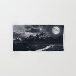Moon Mountains and River Hand & Bath Towel