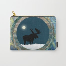 Quiet Moose Magic at Full Moon Carry-All Pouch