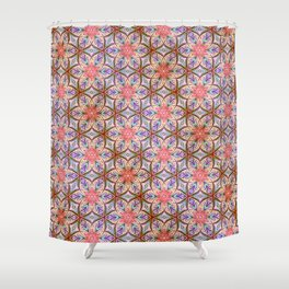 Pink Star Shower Curtain