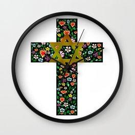 Christian David Cross Wall Clock