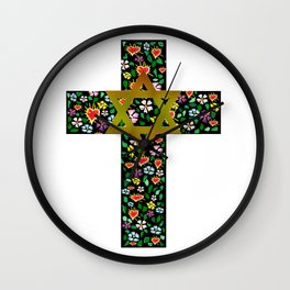 Christian David Cross Wall Clock
