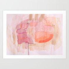 Low Key Pink Art Print