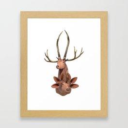 Trophy Head (7Horned6AuditoryMerged) Framed Art Print