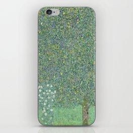 Gustav Klimt - Rosebushes Under the Trees iPhone Skin