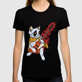 Rock Cat Playing Bass Guitar T-shirt
