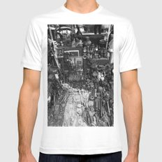 One Man's Possessions MEDIUM White Mens Fitted Tee