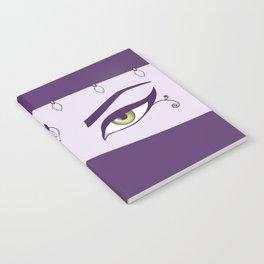Oriental Dancer In Purple With Green Eyes Notebook